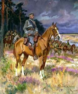 Kossak_Józef_Piłsudski_on_Kasztanka